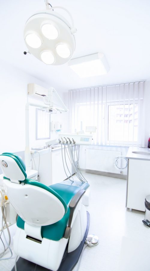 Dentist tools and professional dentistry chair waiting to be used by orthodontist